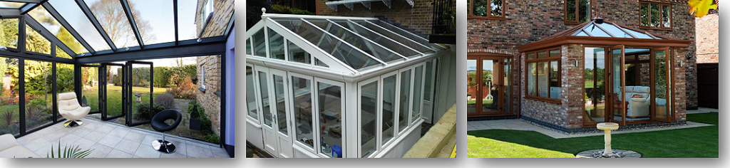 3 different upvc conservatories